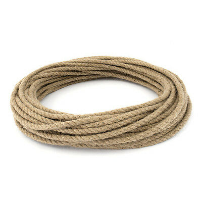 Natural Jute Rope DIY Craft Twisted Twine Braided Cord String Price Per Metre • 1.64£