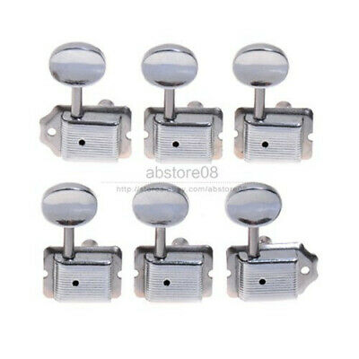 $ CDN13.17 • Buy Vintage Tuning Pegs Keys Tuners Machine Heads For Electric Guitar 6R Chrome