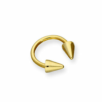AU74.87 • Buy Real 375 9ct Gold Double Arrow Head Nose Ring Archery Sport Piercing Body