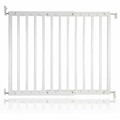 £43.40 • Buy Safetots Chunky White Wooden Stair Gate 63.5 - 105.5cm Wooden Baby Gate