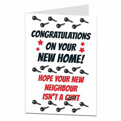 Funny Rude Offensive Congratulations New Home Moving In Out Card Mortgage  • 2.99£