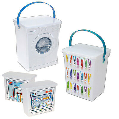 Laundry Clothes Peg Storage Container Dishwasher Tablets Washing Machine Soap • 5.49£