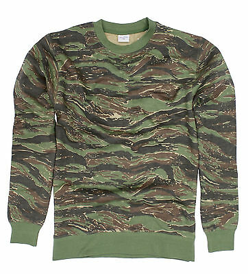 Army Jumper Combat Sweatshirt Tactical Sweater Tiger Camo Long Shirts Camouflage • 14.99£