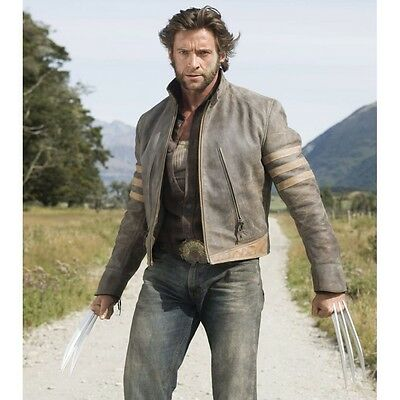 Wolverine X-men Leather Jacket Medium Real Leather End Of Summer Sales • 142.34£