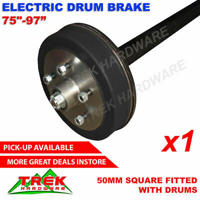 AU740 • Buy Heavy Duty Trailer Axle 50MM Square Fitted With Electric Hub Drum Brakes 2000KG