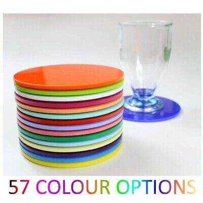 £3.90 • Buy Plastic Coaster Acrylic Coasters Colour Kitchen, Dining Table Round Mix & Match