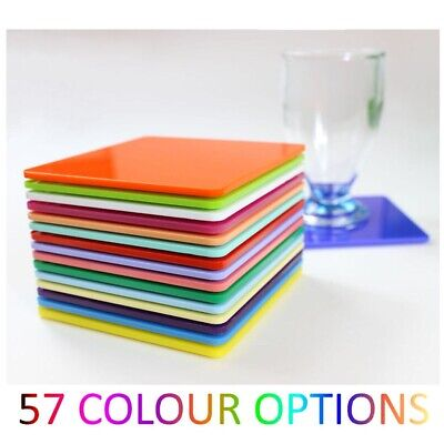£3.90 • Buy Plastic Coaster Acrylic Coasters Colour Kitchen, Dining Table Square Mix & Match