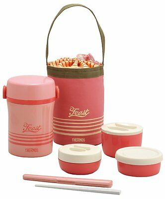 AU42.94 • Buy THERMOS Heat Insulated Bento Lunch Box Pink JBC-801 CP New Japan
