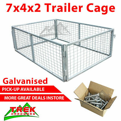 AU270 • Buy 7x4x2 TRAILER CAGE GALVANISED CAGE Tie Down Rachets 2100x1240x600MM