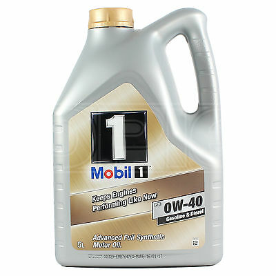 Mobil 1 0W-40 Fully Synthetic Engine Oil 0W40 Mobil1 5 Litres 5L • 43.95£