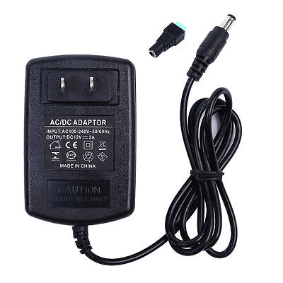 $7.70 • Buy 12V 2A 24W Power Supply AC 100-240V To DC Adapter Plug For 3528 5050 LED Strip