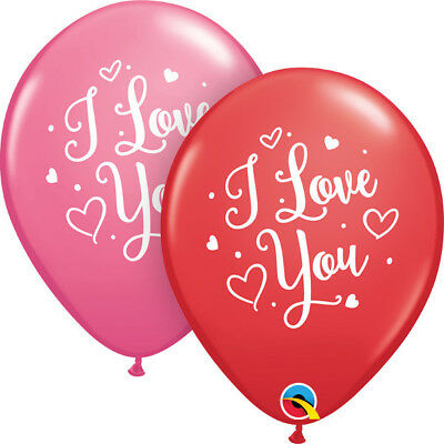 AU6.60 • Buy Party Supplies Valentines Day Wedding I Love You Script Latex Balloons Pk10