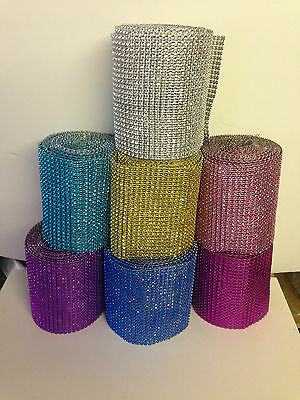 Diamante Effect Ribbon Banding For Cake Decorating In Many Colours & Lengths • 1.85£