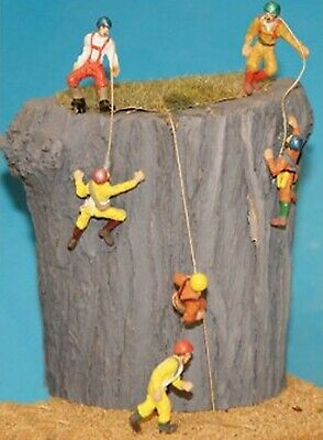 Figures 6 Rock Climbers F150p PAINTED OO Scale Langley Models People Figures • 17.84£