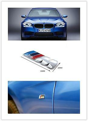 AU25 • Buy 2 X M-Sport Chrome BMW Car Badge 3D Self-adhesive Premium Logo Emblem Small