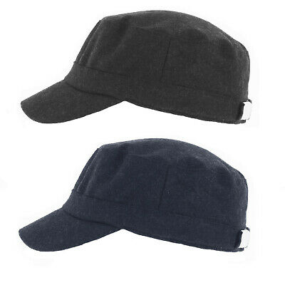 £7.99 • Buy Thomas Melton Wool Engineers / Military Cap With Fleece Lining Navy/Charcoal