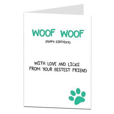 £2.99 • Buy Happy Birthday Card From The Dog Lover Owner Husband Wife Mum Dad Funny Joke