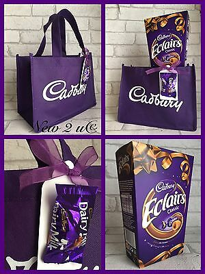 £14.99 • Buy Cadbury Eclairs Dairy Milk Large  Chocolate Gift Set Tote Bag Gift Tag Present