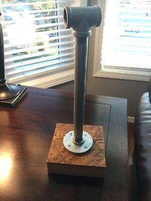 $29.99 • Buy Galvanized Pipe & Reclaimed Wood Paper Towel Holder, Industrial Home Decor