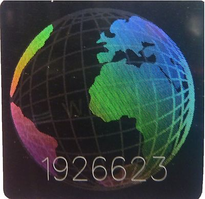 £2.20 • Buy Globe NUMBERED Hologram Sticker, Warranty And Safety Seal Label Stickers 20x20mm