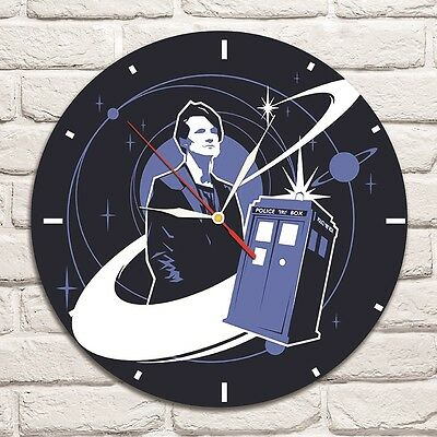 Dr.Who Color Design Vinyl Record Wall Clock Home Shop Office Shop Move Comics 1 • 25£