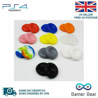 AU4.79 • Buy 4 X Rubber Thumb Stick Thumbstick Cover Grip PS4 XBOX One Controller