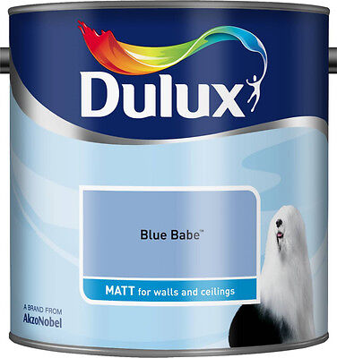 Dulux Smooth Emulsion Matt Paint - Blue Babe - 2.5L - Walls And Ceiling  • 23.49£