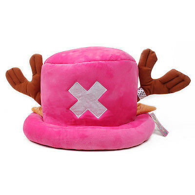 $8.99 • Buy Anime One Piece Tony Chopper Cap Cosplay Plush Winter Hat Women Gifts Rose Red