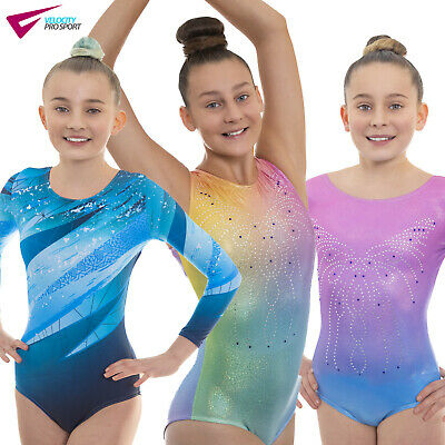 Deluxe Girls Show Gymnastic Gym Leotards For Dancewear, Gym And Dance Shows • 16.99£
