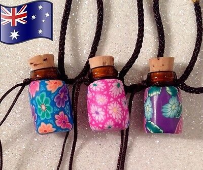 AU7.50 • Buy Aromatherapy Essential Oil Diffuser Perfume Pendant Necklace Glass Bottle W/ Lid