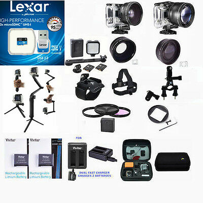 $ CDN191.86 • Buy Extreme 64gb Full Accessory Kit For Gopro Hero4 Hero 4 Black And Silver Edition
