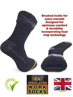 MENS HEAT INSULATERS THERMAL SOCKS 2.3 TOG RATING SIZE 6 - 11 THICK WARM WORK Uk • 3.89£