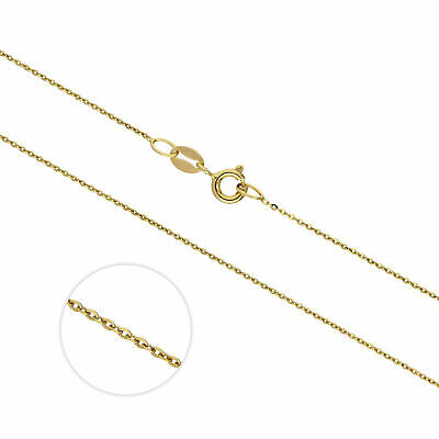 Real 375 9ct Gold Extendable Hammered Trace 20 Inch Chain Chains Necklaces • 55£
