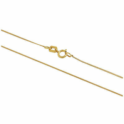 £35 • Buy Real 375 9ct Gold Trace Chain 16 - 20 Inches Chains Necklaces