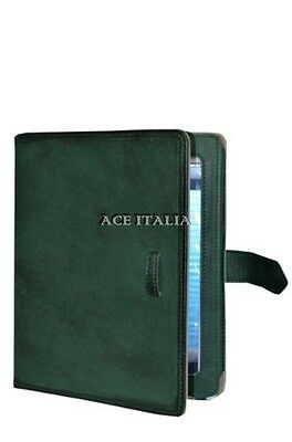 $35.41 • Buy Cover Case Stand IPAD 2 3 & 4 Green Wax Lambskin Luxury Real Genuine Leather