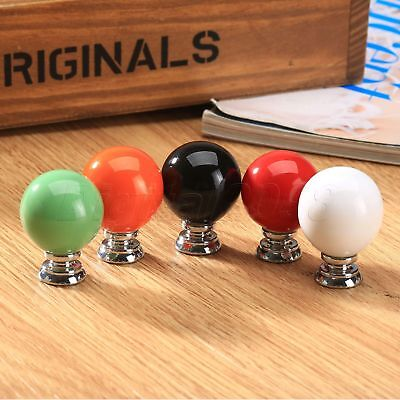 Round Ceramic Pull Handle Knobs For Furniture Cupboards Kitchen Drawer Cabinet • 1.13£