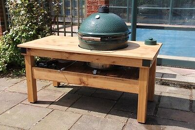 Extra Large English Oak Big Green Egg Barbecue Butchers Block Table Garden  • 2,055£