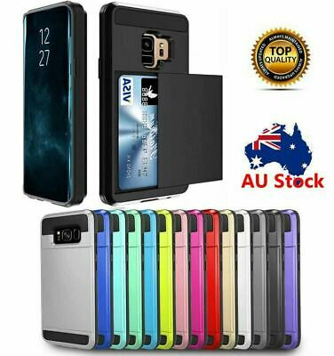 AU6.93 • Buy Samsung Galaxy S10 5G S10e S9 S8 Plus S7 Edge Shockproof Card Holder Case Cover