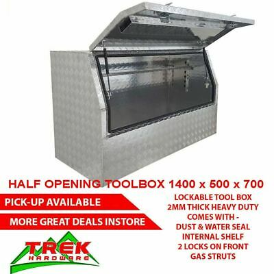 AU380 • Buy 1400 X500 X700mm Heavy Duty Aluminium Toolbox Half Open Door Ute Truck Tool Box