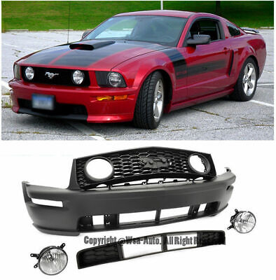 $5399 • Buy Ford Mustang 05-09 Gt Style Front Bumper Cover W/ Grille And Fog Light Lamp