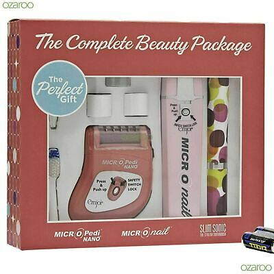 Emjoi Slim Sonic Complete Beauty Package With Toothbrush Micro Pedi & Micro Nail • 30.18£