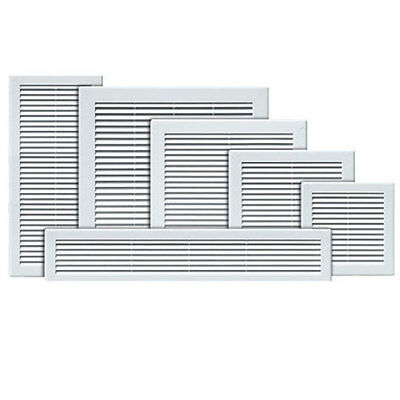 £3.95 • Buy Air Vent Grille White Wall Ducting Vent  Cover High Quality Louver Sizes . X & Y