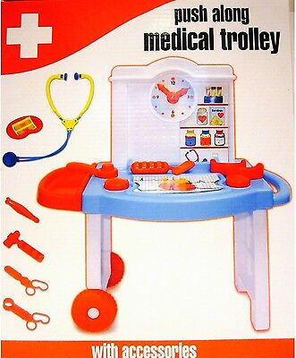£11.90 • Buy Push Along Medical Trolley With Accessories 11pcs