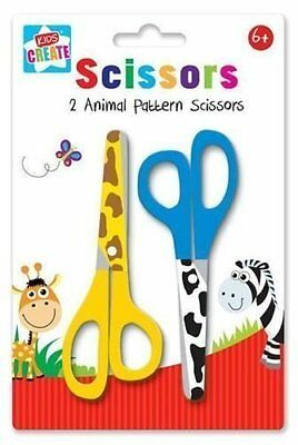 £3.39 • Buy 4 X Anker Arts And Crafts Animal Pattern Printed Scissors Childrens Kids