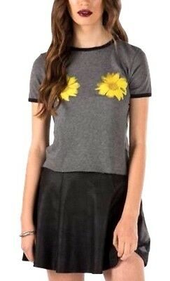Womens Vans Daisy Craze T Shirt Top Grey Size L NEW • 15.99£