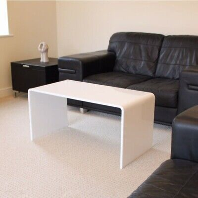 £137.95 • Buy White Acrylic Plastic Coffee Table Hygienic Easy Clean Living Room Table