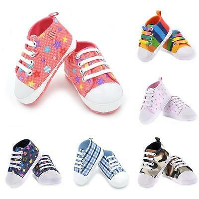 Toddler Newborn Shoes Baby Infant Kids Boy Girl Soft Sole Canvas Sneaker Hot S02 • 4.90£
