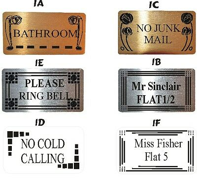 £5.99 • Buy Door Name Plates 2 Sizes 5 Designs 3 Colours To Choose From Plaque / Sign