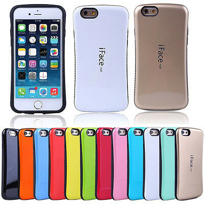 IFace Gel Shock-Absorbing Shockproof Bumper Cover Case IPhone SE 5 6 7 8 Plus X • 5.50£