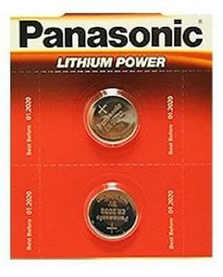 Pack Of 2 Panasonic CR2032 Lithium Coin Cell 3V Battery Car Key Fobs Toys Remote • 2.49£